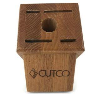 CUTCO 5 Slots Gourmet Knife Block Wooden Honey Oak